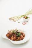 Crevette avec de la sauce à tamarinier Images libres de droits