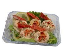 Crevette avec le chemin de mayonnaise-découpage Photographie stock libre de droits