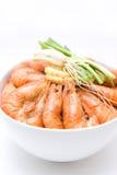 Crevette bouillie Image stock