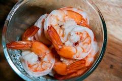 Crevette bouillie Photo libre de droits