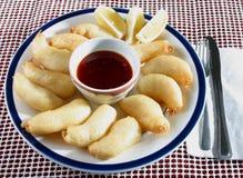 Crevette cuite à la friteuse photographie stock libre de droits