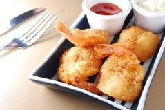 Crevette cuite à la friteuse Photo libre de droits