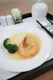 Crevette délicieuse avec le légume Photo libre de droits