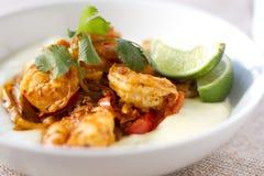 Crevette de chaux de chorizo Photo libre de droits