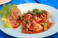 crevette de mélange avec des épices Photo libre de droits