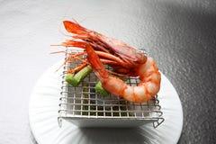 Crevette de Plats gastronomiques images libres de droits