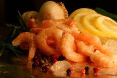 crevette de salade Photographie stock libre de droits