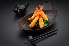 Crevette de Tempura images libres de droits