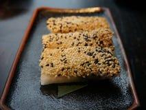 Crevette et mille ans de petit pain d'oeufs Images stock
