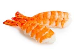 Crevette et riz de deux sushi Image stock