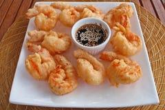 Crevette et sauce Photo libre de droits