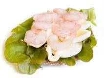 crevette faite maison de sandwich Photographie stock libre de droits