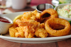Crevette frite Image stock