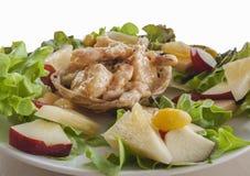 Crevette frite avec de la salade crème Photographie stock libre de droits