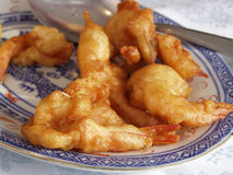 Crevette frite chinoise photo stock