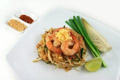 Crevette frite par Thaïlande thaïlandaise de protection Images stock