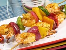 Crevette Kebabs Photographie stock libre de droits