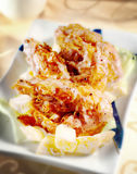 Crevette rose cuite à la friteuse Image libre de droits