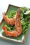Crevette rose cuite à la friteuse Photographie stock libre de droits