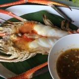 Crevette rose de rivière géante à Ayutthaya Thaïlande Images stock