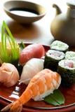 Crevette rose de sushi Image libre de droits