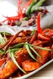 Crevette rose douce de /poivron Photographie stock libre de droits