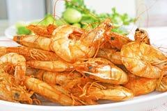 Crevette rose salée et par bonbon cuite Photo stock