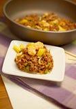Crevette rose thaïlandaise Fried Rice d'ananas Images libres de droits