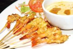 Crevette satay Photo libre de droits