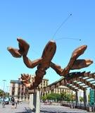 Crevette sur le remblai à Barcelone Images libres de droits