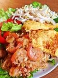 Crevette thaïe de garniture Photographie stock libre de droits