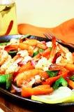 Crevettes épicées Photos libres de droits