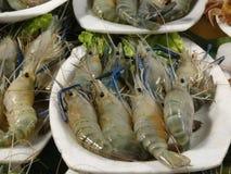 Crevettes au marché Photographie stock libre de droits