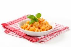 Crevettes avec de la sauce épicée Photographie stock