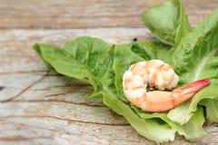 Crevettes avec des légumes Photographie stock