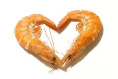 Crevettes cuites Photographie stock libre de droits