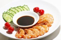 Crevettes cuites Photos libres de droits