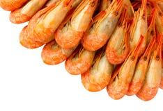 Crevettes cuites Images libres de droits