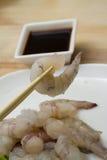 Crevettes d'oeufs de poisson Photographie stock