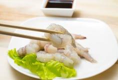 Crevettes d'oeufs de poisson Photos libres de droits