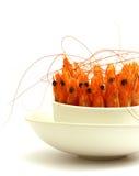 Crevettes dans une cuvette images libres de droits