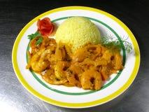 Crevettes de Briyani Photographie stock