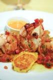 Crevettes de crevettes roses de tigre Photographie stock libre de droits