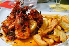 Crevettes de roi de vétivers photos stock