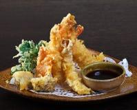 Crevettes de Tempura (crevettes cuites à la friteuse) Images libres de droits
