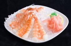 Crevettes en glace Image libre de droits
