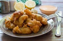 Crevettes en pâtisserie pour le déjeuner Photographie stock