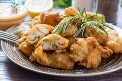 Crevettes en pâtisserie pour le déjeuner Image libre de droits