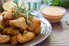 Crevettes en pâtisserie pour le déjeuner Images stock