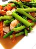 Crevettes et légume Photos libres de droits